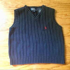 Boys Ralph Lauren polo navy sweater vest size 5